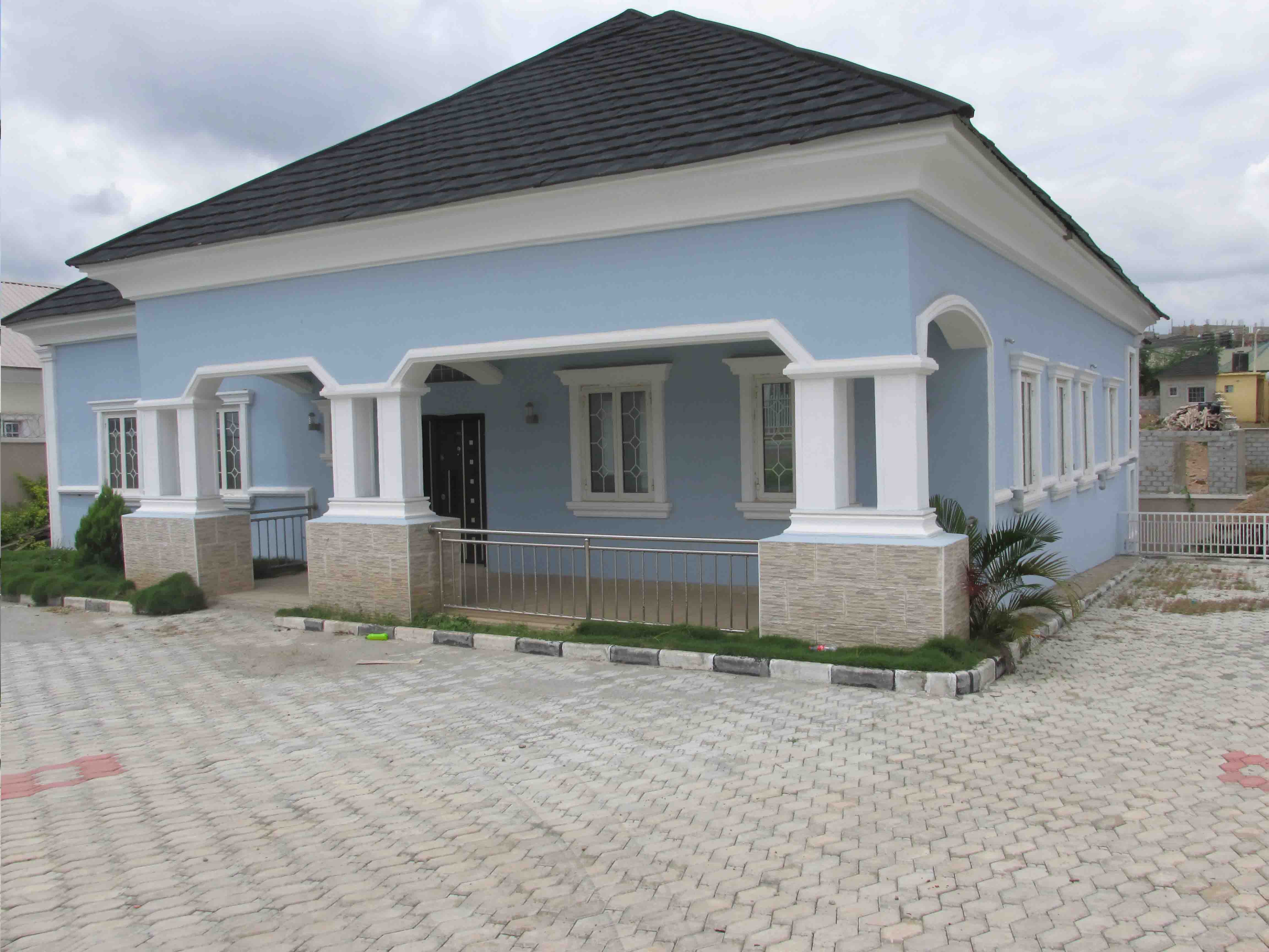 Tastefully finished 5 bedroom bungalow with a basement for Bedroom designs in nigeria